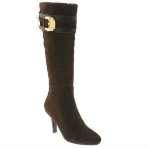 Cole Haan Nicole Air Brown Suede Tall Boot